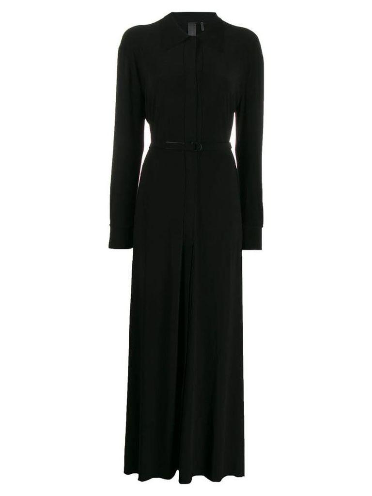 Norma Kamali belted shirt dress - Black