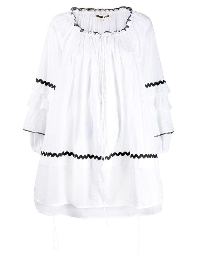 McQ Alexander McQueen short ruffled dress - White