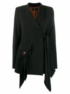 Ellery tie-waist blazer - Black