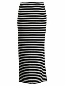 Majestic Filatures striped fitted skirt - Black