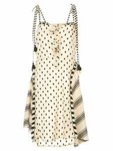 Dodo Bar Or polka-dot midi dress with knots - Neutrals