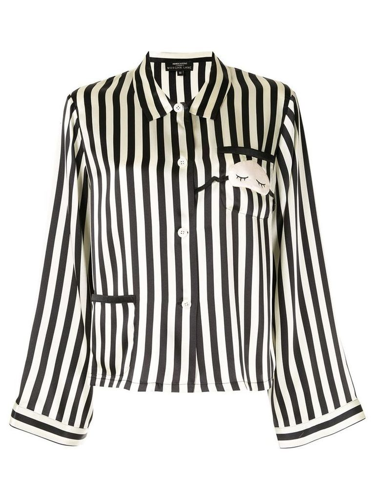 Morgan Lane Ruthie pijama top - Black