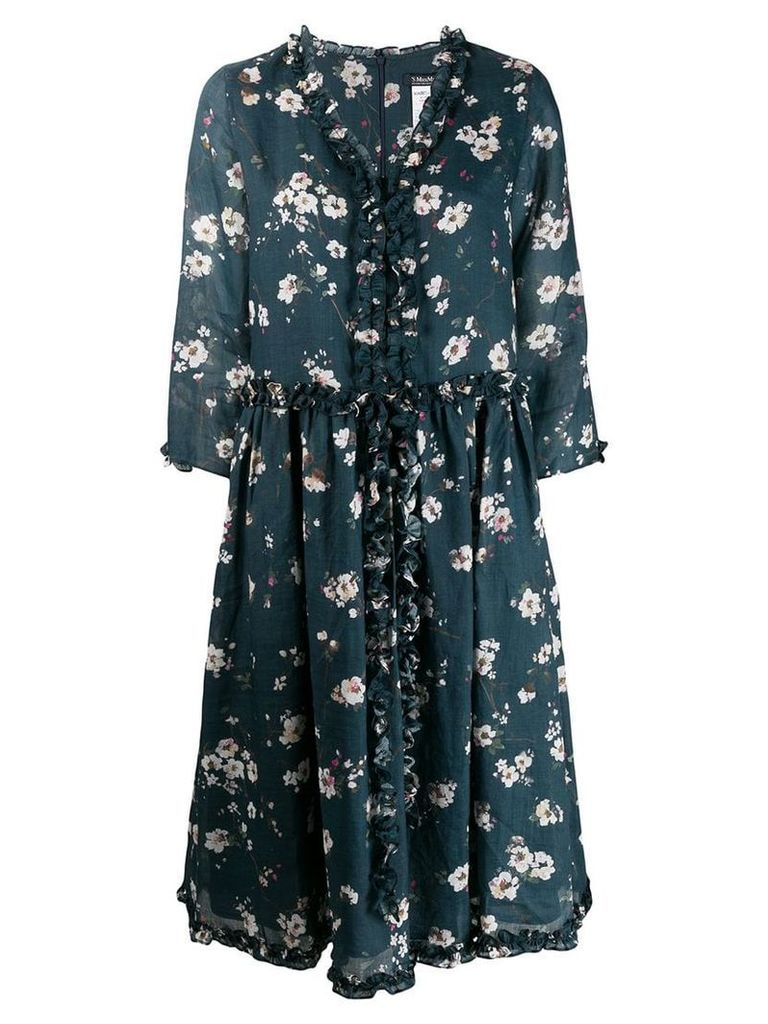 'S Max Mara floral print midi dress - Blue