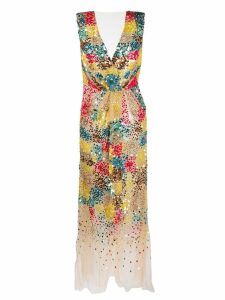 Elisabetta Franchi sequinned cocktail dress - Neutrals