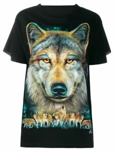 Wendy Jim loose-fit wolf T-shirt - Black