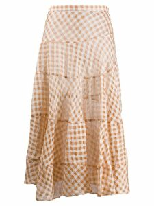 Isa Arfen checked skirt - Brown