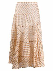 Isa Arfen checked skirt - Brown