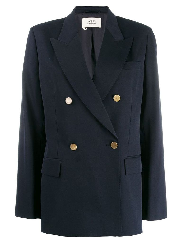 Ports 1961 double-breasted blazer - Blue