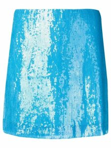 Alberta Ferretti sequins short skirt - Blue