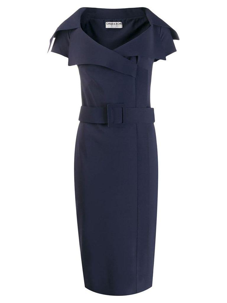 Le Petite Robe Di Chiara Boni belted midi dress - Blue