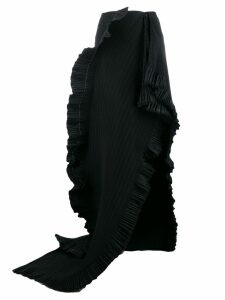AREA draped pleated skirt - Black
