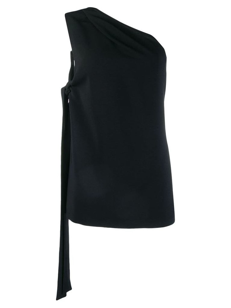 Rochas one shoulder tank top - Black