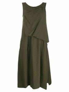 Yohji Yamamoto draped detail dress - Green
