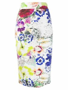 Le Petite Robe Di Chiara Boni floral print pencil skirt - White