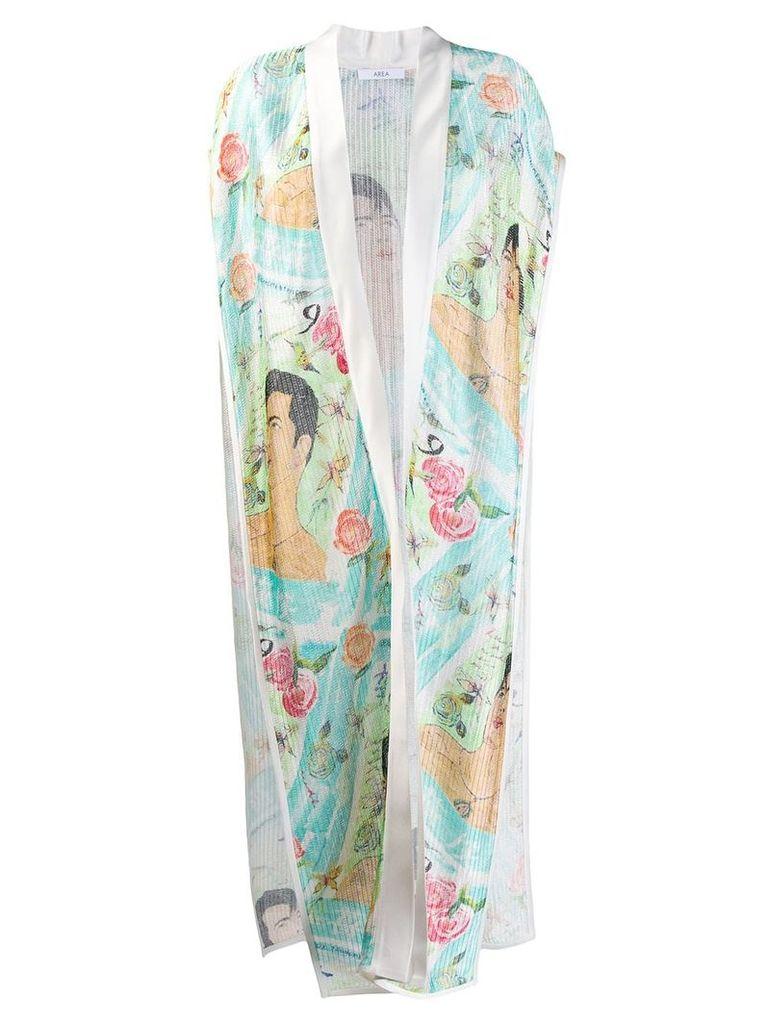 Area kimono coat - White