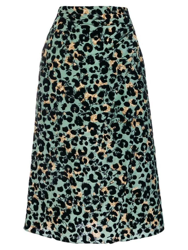 Rochas a-line midi skirt - Green