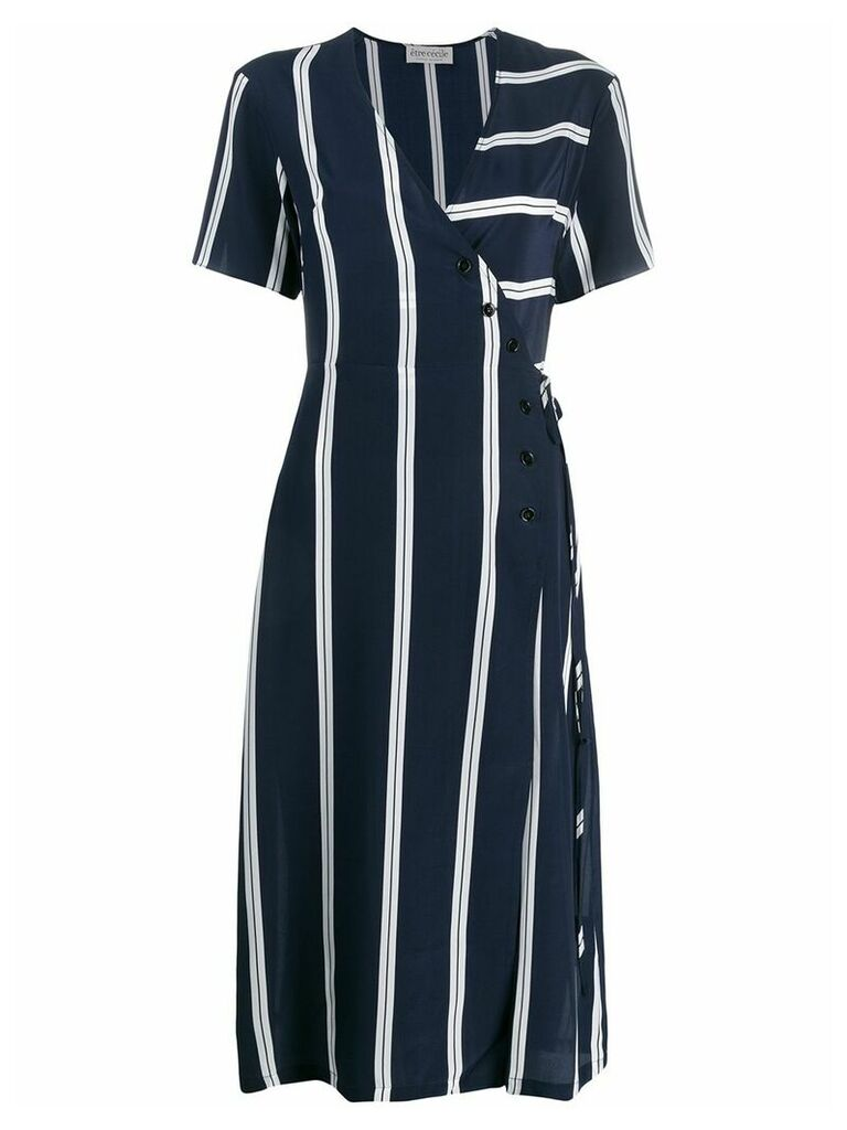 Être Cécile striped wrap front dress - Blue