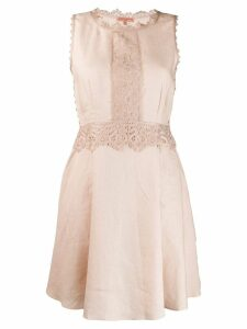 Ermanno Scervino embroidered floral sleeveless dress - Neutrals