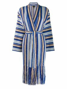 Alanui jacquard striped cardigan - Blue