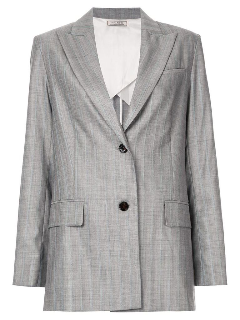 Nina Ricci striped relaxed blazer - Grey