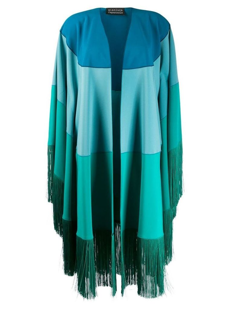 Gianluca Capannolo fringed coat - Blue