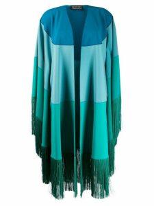 Gianluca Capannolo fringed coat - Blue