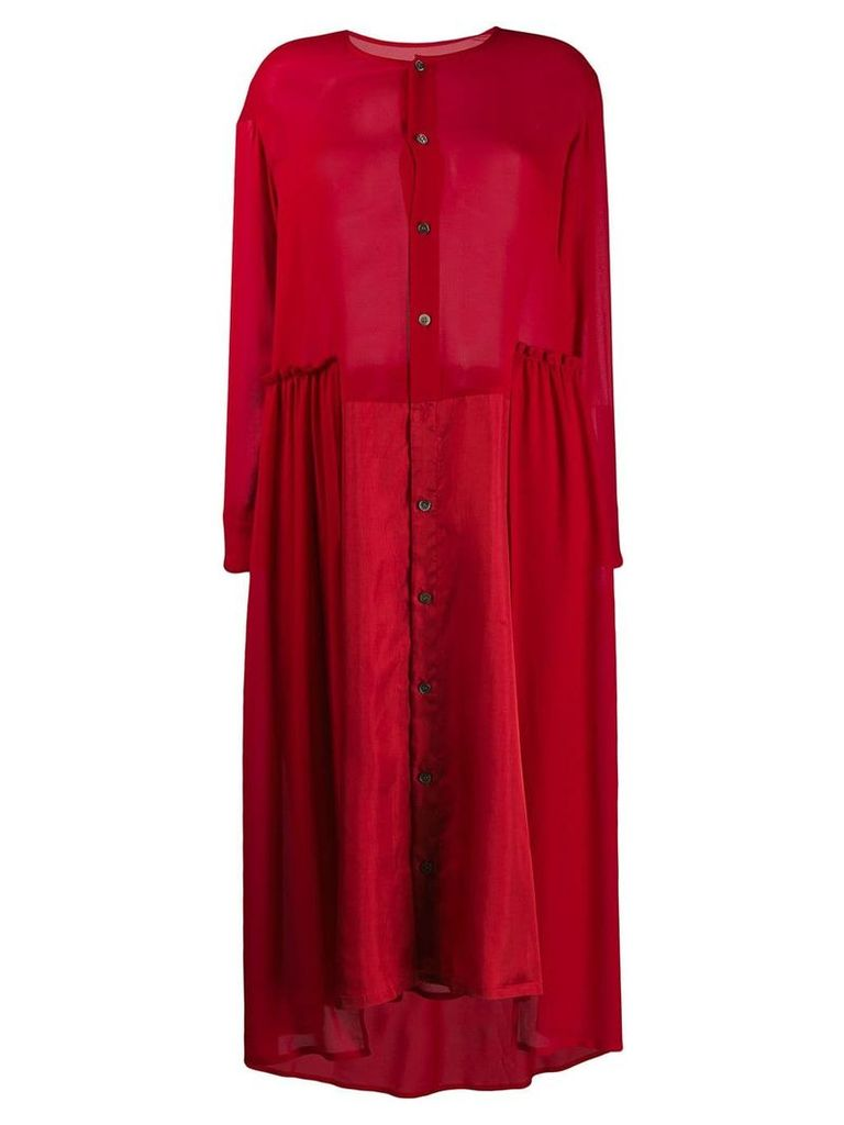 Zucca oversized shirt dress - Red