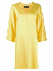 Gianluca Capannolo 3/4 sleeve dress - Yellow