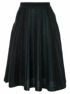 Nina Ricci striped midi skirt - Blue