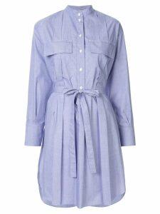 Nina Ricci belted shirt dress - Blue