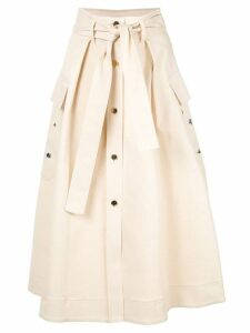 Nina Ricci belted button-up skirt - Neutrals