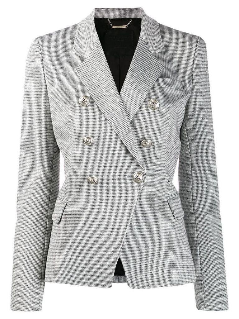Philipp Plein patterned blazer - Grey