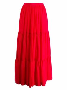 Gianluca Capannolo panelled maxi skirt - Red