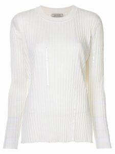 Nina Ricci ribbed jumper - White