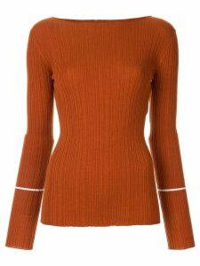 Nina Ricci ribbed knit shirt - Brown