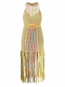 M Missoni knitted midi dress - Neutrals