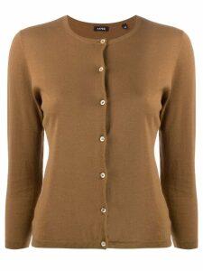 Aspesi classic short cardigan - Brown