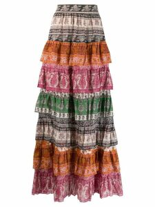 Zimmermann Sama layered skirt - Pink