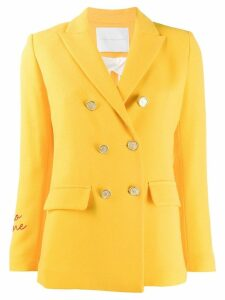 Giada Benincasa double-breasted blazer - Yellow