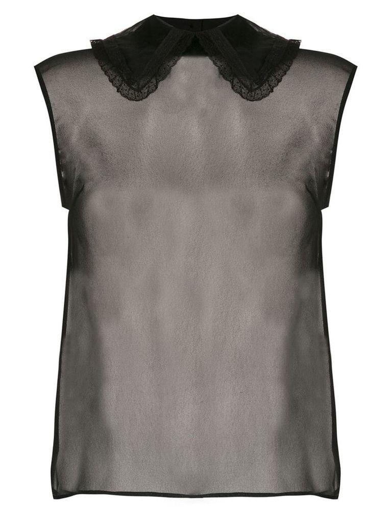 Andrea Bogosian sleeveless shirt - Black