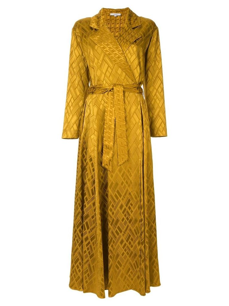 Layeur printed robe dress - Yellow