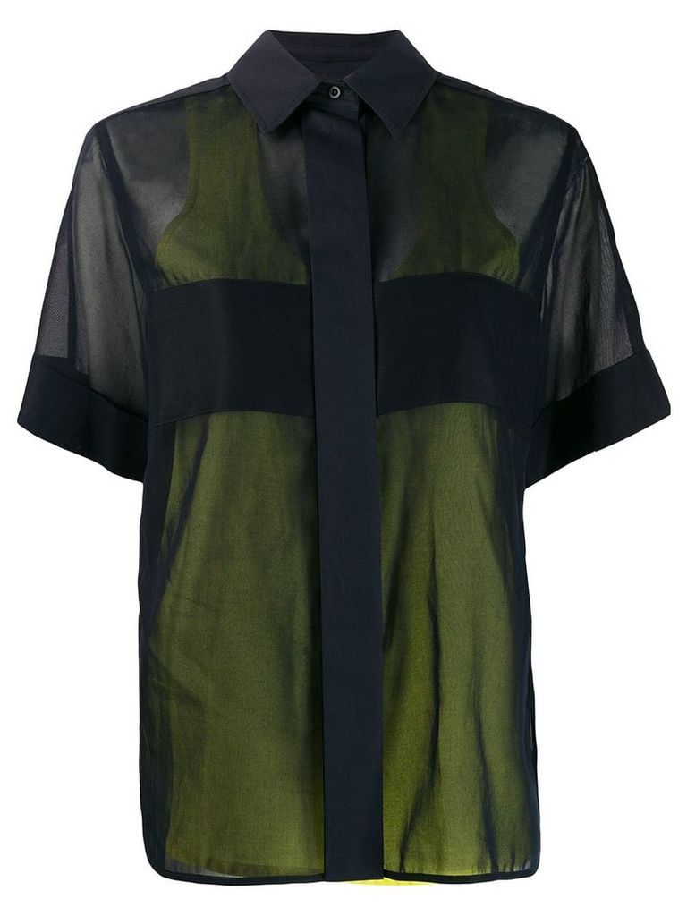 Sportmax contrast layer shirt - Blue