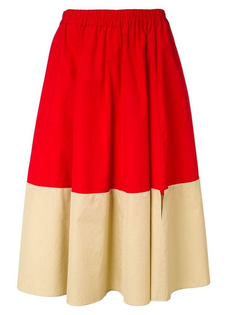 Marni colour block skirt - Red