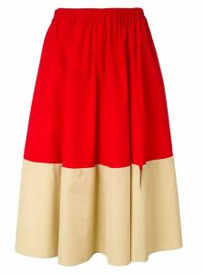 Marni colour block skirt - Red