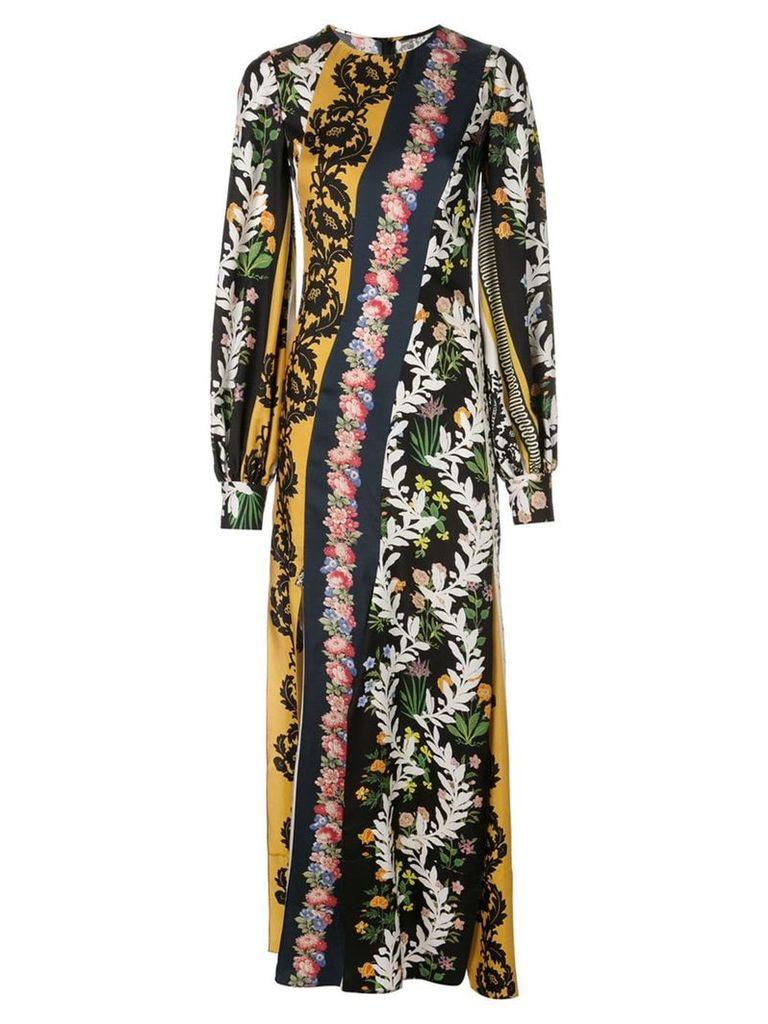 Oscar de la Renta floral print maxi dress - Multicolour