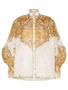 Zimmermann Zippy Billow blouse - Brown