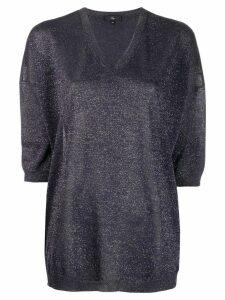 Fay lurex knit sweater - Blue