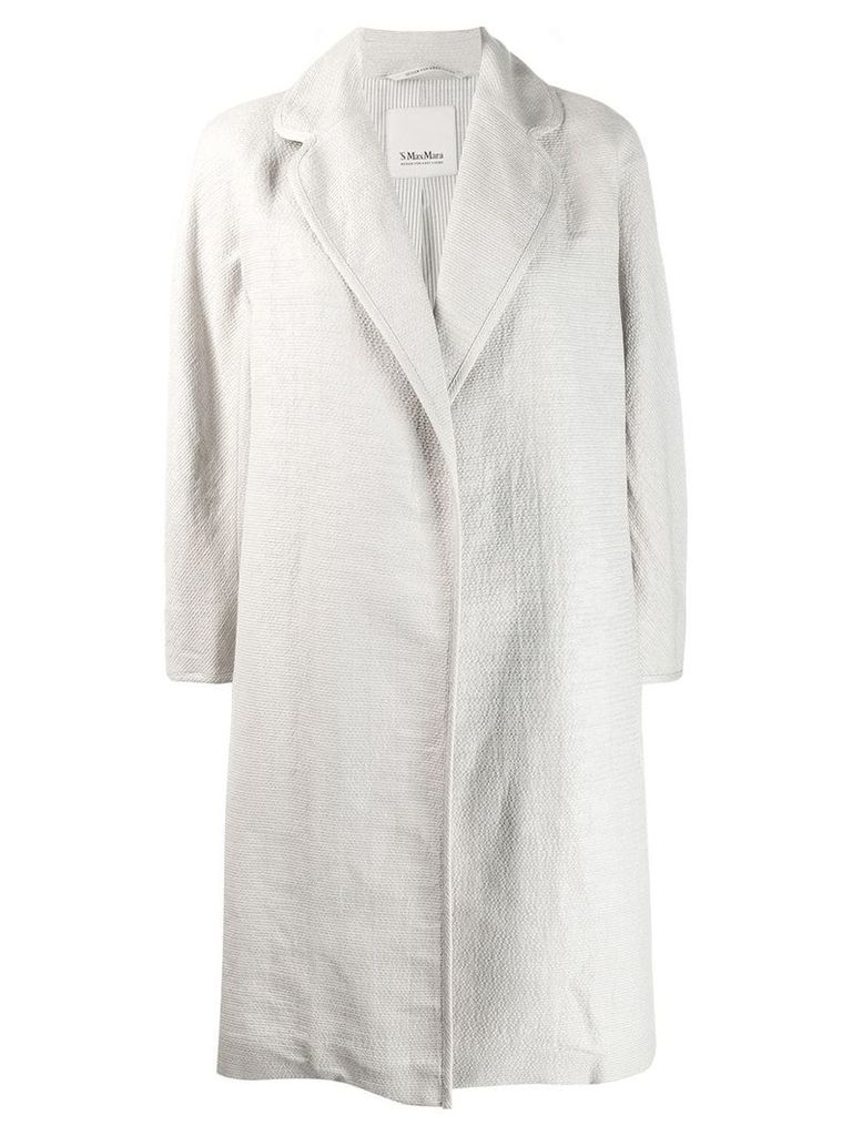 'S Max Mara open-front midi coat - Neutrals