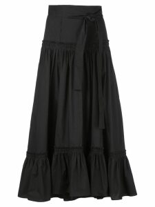 Proenza Schouler Cotton Poplin Tiered Skirt - Black