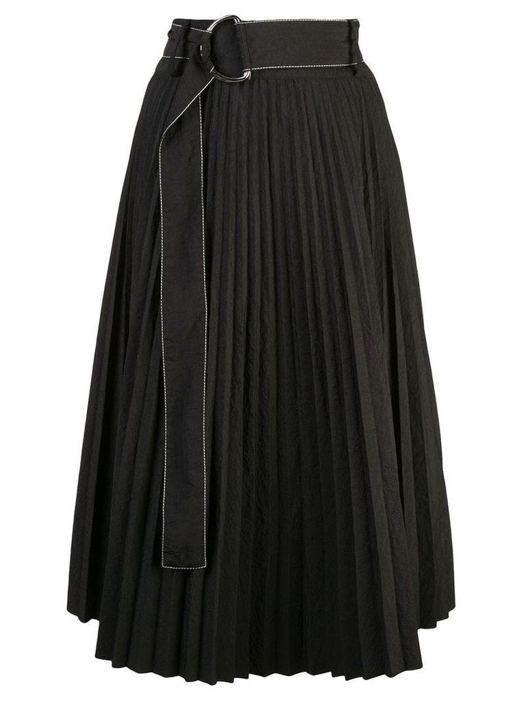 Proenza Schouler PSWL Parachute Pleated Skirt - Black